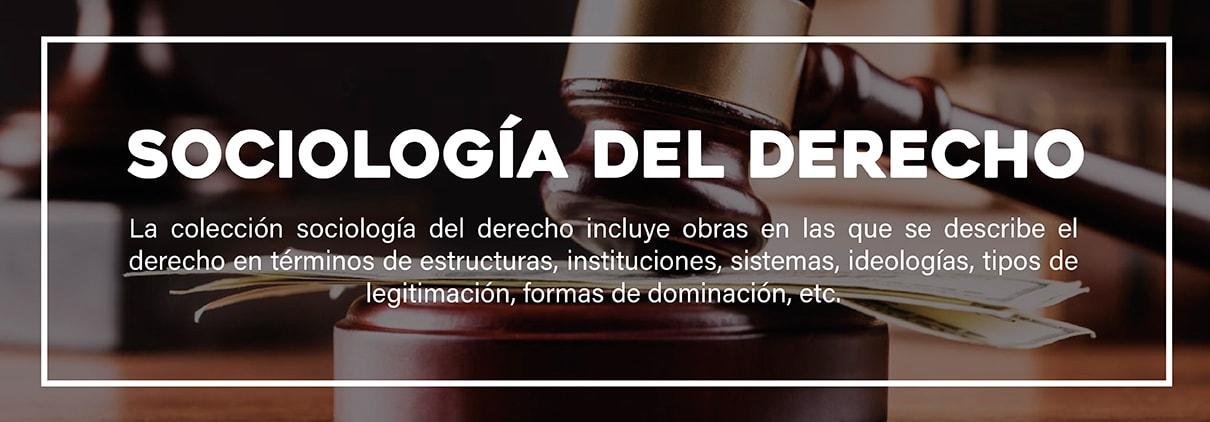 Banner Colección Sociología del derecho